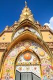 Pagoda dorata con il mosaico variopinto fotografie stock libere da diritti