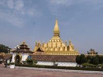 Pagoda dorata di Vientiane immagini stock libere da diritti