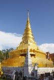 Pagoda dorata, Nan Province Thailand Immagine Stock