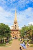 Pagoda dorata a wat Chalong immagini stock