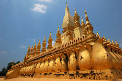 Pagoda dorato Phra quel Luang a vientiane Immagini Stock Libere da Diritti