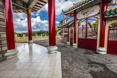 Pagoda and dragon sculpture of the Taoist Temple in Cebu, Philip Royalty Free Stock Image