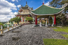 Pagoda and dragon sculpture of the Taoist Temple in Cebu, Philip Stock Photo