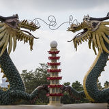 Pagoda and dragon sculpture of the Taoist Temple in Cebu, Philip Stock Images