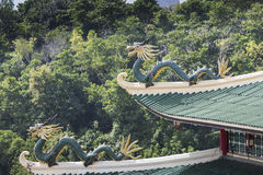 Pagoda and dragon sculpture of the Taoist Temple in Cebu, Philip Royalty Free Stock Images
