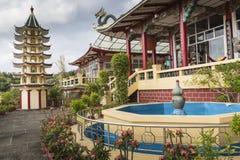 Pagoda and dragon sculpture of the Taoist Temple in Cebu, Philip Stock Photos