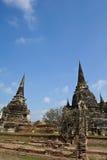 Pagoda due a Wat Phra Sri Sanphet Fotografia Stock