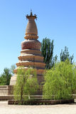 Pagoda Dunhuang de cheval blanc Photo stock