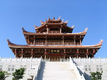 Pagoda e escadas foto de stock