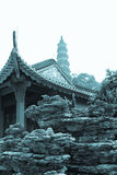 Pagoda e tempio Fotografia Stock Libera da Diritti