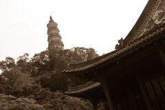 Pagoda e tempio Immagini Stock