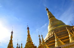 Pagoda en or de Yangon Birmanie Photo stock