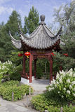 Pagoda en el jardín botánico de Montreal Imágenes de archivo libres de regalías