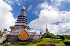 Pagoda en el parque nacional de Doi Intanon, Phra Mahathat Napapolphumis Imagen de archivo