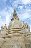 Pagoda en el templo de Ayutthaya Fotografía de archivo