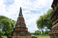 Pagoda en el templo de Ayutthaya Foto de archivo