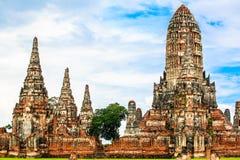 Pagoda en el templo de Chaiwattanaram Imagen de archivo
