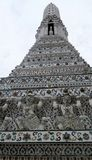 Pagoda en el templo de Wat Arun del amanecer fotos de archivo libres de regalías