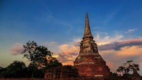 Pagoda en la ciudad histórica de Ayutthaya Foto de archivo libre de regalías