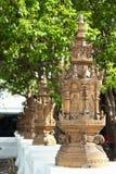 Pagoda en la pared del templo en el templo grande en Chiangmai, Tailandia Imágenes de archivo libres de regalías