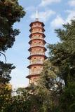 Pagoda en los jardines de Kew Foto de archivo libre de regalías
