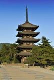 Pagoda en Nara Fotos de archivo libres de regalías