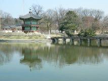 Pagoda en parc, Corée du Sud, Séoul Image stock