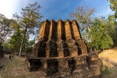 pagoda en parc historique de Kamphaeng Phet Photographie stock