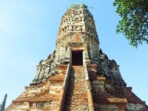 Pagoda en Wat Chaiwatthanaram Image libre de droits