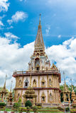 Pagoda en Wat Chalong o el templo de Chalong, Phuket Tailandia Fotografía de archivo libre de regalías