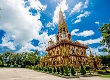 Pagoda en Wat Chalong o el templo de Chalong, Phuket Tailandia Fotografía de archivo