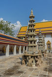 Pagoda en Wat Pho Kaew, Bangkok, Tailandia Imágenes de archivo libres de regalías
