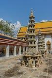 Pagoda en Wat Pho Kaew, Bangkok, Thaïlande Images libres de droits