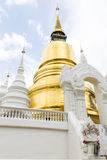 Pagoda en Wat Suan Dok en Chiang Mai, Tailandia Foto de archivo libre de regalías