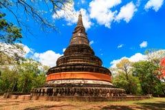 Pagoda en Wat Umong de Chiang Mai en Tailandia septentrional fotografía de archivo
