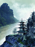 Pagoda et nature Images stock
