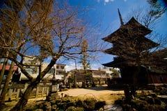 Pagoda famosa tres del templo de Hida Kokubunji Fotos de archivo libres de regalías