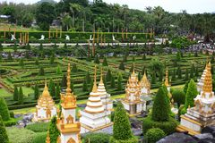 Pagoda field in garden Royalty Free Stock Image