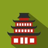 Pagoda flat icon Royalty Free Stock Photo