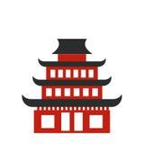Pagoda flat icon Stock Image