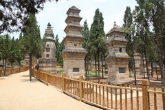 Pagoda Forest at the Temple in Shao Lin Royalty Free Stock Image