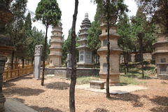 The Pagoda Forest at the Temple in Shao Lin, located in XiAn Chi Stock Photography