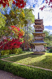 Pagoda in the Fort Worth Japanese Gardens Stock Photography