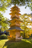 Pagoda in the Fort Worth Japanese Gardens Royalty Free Stock Image