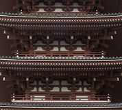 Pagoda Fragment In Authentic Style. Ancient Architecture Of Japan.  royalty free stock photography