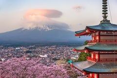 Pagoda and Fuji Stock Photography