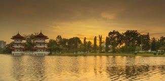 Pagoda gemela Foto de archivo libre de regalías