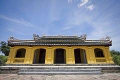 Pagoda giallo nella tonalità Immagine Stock