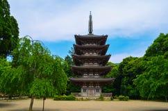 Pagoda giapponese Fotografia Stock