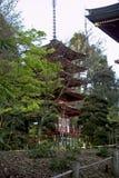 Pagoda giapponese del giardino di tè fotografia stock